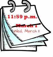 deadline image_Wed., March 11